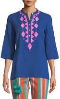 Figue Jasmine Embroidered 3/4-Sleeve Top