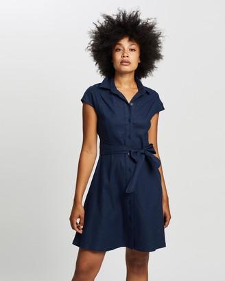 Forcast Giana Linen Shirt Dress