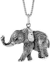 Sabrina Silver Sterling Silver Elephant Pendant, 3/4 inch