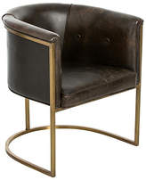 Arteriors Calvin Club Chair - Bridle Brown Leather