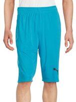 Puma Solid Elasticized Waist Shorts