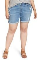 Lucky Brand Plus Size Women's Georgia Roll Cuff Denim Shorts