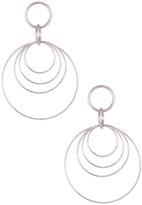 Rivka Friedman Bold Multiple Circle Dangle Satin Earrings