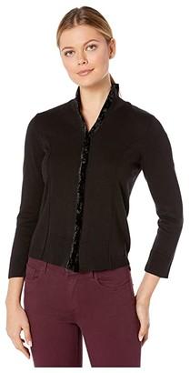 Nic+Zoe Party Cardy (Black Onyx) Women's Sweater