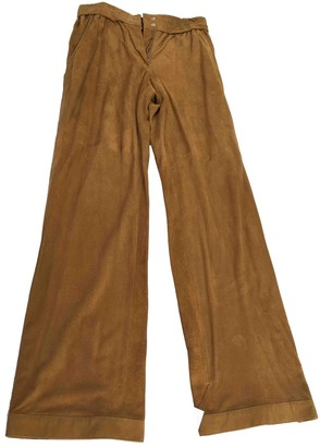 Isabel Marant Brown Suede Trousers