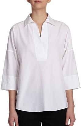 Akris Punto Elements Cotton Kimono Blouse