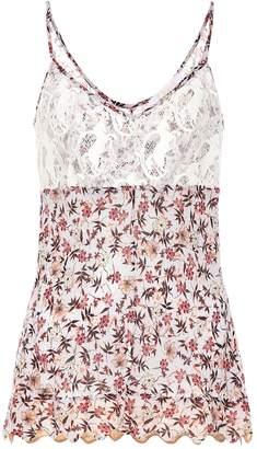 Chloã© Floral-print lace camisole