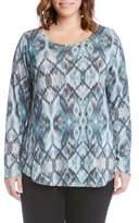 Karen Kane Print Shirttail Top