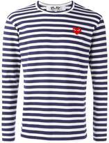 Comme des Garcons striped longsleeved T-shirt - men - Cotton - M