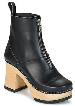 Swedish Hasbeens GRUNGE BOOT BLACK women's Low Ankle Boots in Black