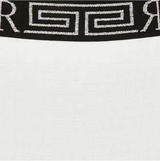 River Island Girls Textured One Shoulder Bikini Set-White