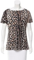 Just Cavalli Short Sleeve Cheetah Print Top