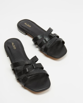 Aldo Women's Black Flat Sandals - Isdell - Size 7 at The Iconic