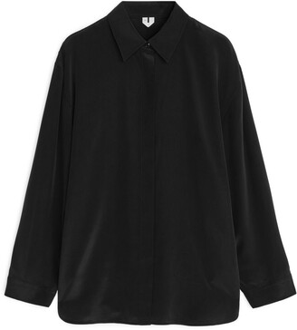 Arket Relaxed Silk Shirt