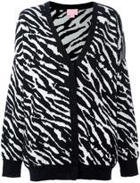 Giamba zebra pattern cardigan - women - Polyamide/Mohair/Alpaca/Virgin Wool - 40