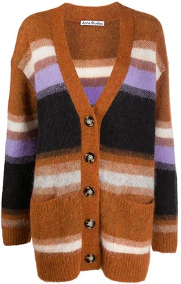 Acne Studios oversized striped V-neck cardigan