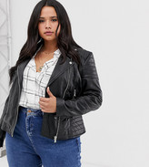 Barneys New York Barneys Originals Plus Plus leather biker jacket