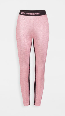 Paco Rabanne Metallic Leggings