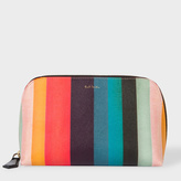 Paul Smith Women's 'Artist Stripe' Print Leather Make-Up Bag