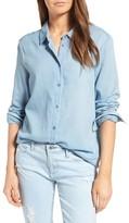 AG Jeans Women's Nola Cotton Chambray Shirt