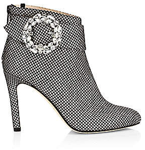 Sarah Jessica Parker Women's Jeweled Buckle Glittered Ankle Boots
