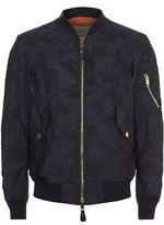 Burberry Camo Print Bomber Jacket