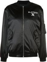 Jeremy Scott slogan bomber jacket