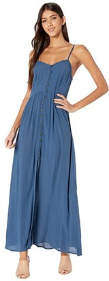 Rip Curl Sunsetters Solid Maxi Dress (Dark Blue) Women's Dress