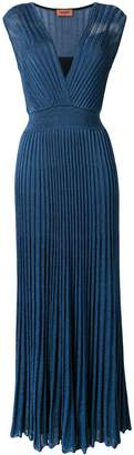 Missoni knitted plisse evening dress