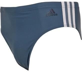 adidas Mens 3-Stripe Swim Trunks Legend Blue/Legend Ink