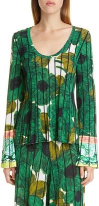 Etro Brushstroke Floral Print Knit Top