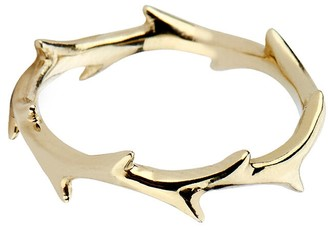Dru Crown of Thorns Ring Band - Yellow Gold