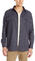 Pendleton Men's Fitted Cascade Denim Shirt, Navy