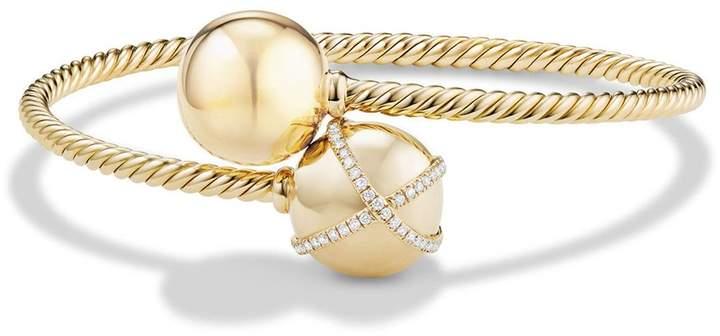 David Yurman 'Solari Bypass' Bracelet with Diamonds in 18K Gold