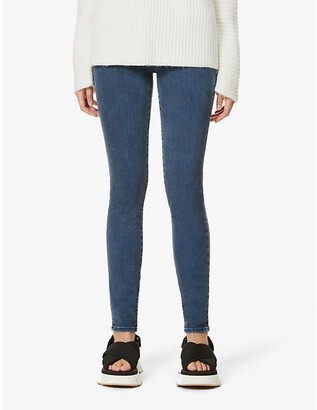 J Brand Ladies Blue Cotton Maria Skinny High-Rise Jeans, Size: 24