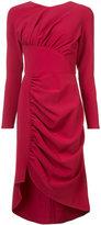 Christian Siriano asymmetric rushed dress