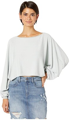 Hard Tail Balloon Sleeve Slide Tee (Dove) Women's Clothing