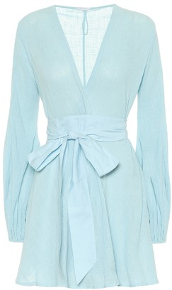 Kalita Exclusive to Mytheresa Gaia cotton mini wrap dress