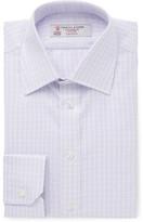Turnbull & Asser Purple Slim-fit Checked Cotton-twill Shirt - Purple