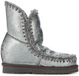 Mou Eskimo Wedge metallized boots
