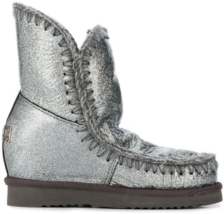 Mou Eskimo Wedge metallized boots