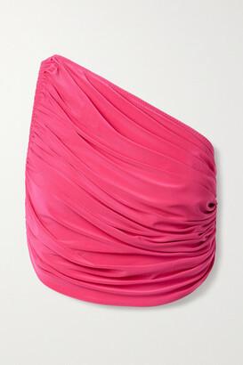 Norma Kamali Diana One-shoulder Ruched Bikini Top - Fuchsia