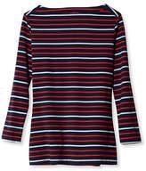 L.L. Bean Signature Cotton/Modal Boatneck Top, Stripe