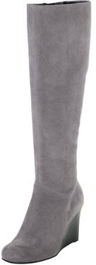 Cole Haan Cora Suede Wedge Boot, Iron Stone