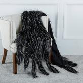 A by Adrienne Landau Faux Fur Throw with Tails