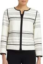 Lafayette 148 New York Women's Nola Contrast Seam Jacket