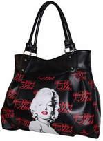 "Monroe Women's Marilyn Forever Beautiful ""Some Like It Hot"" Handbag - Black Casual Handbags"