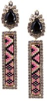 Shourouk beaded detailing earrings