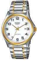Casio MTP - 1188PG 7B-Classic-Men's Watch Analogue Quartz White Dial Steel Strap Grey