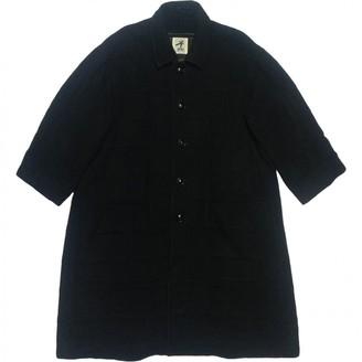 Issey Miyake Black Wool Coat for Women Vintage